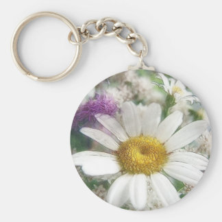 White Daisy Bouquet Key Chains