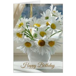 White daisy, camomile Happy Birthday Card