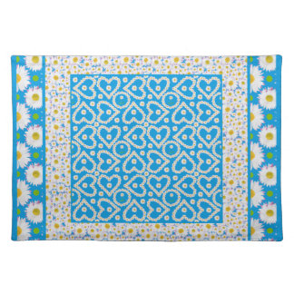 White Daisy Chains Cloth Table Mat: Mix'n'match Placemat