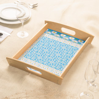 White Daisy Chains Serving Tray: Mix'n'Match Serving Tray
