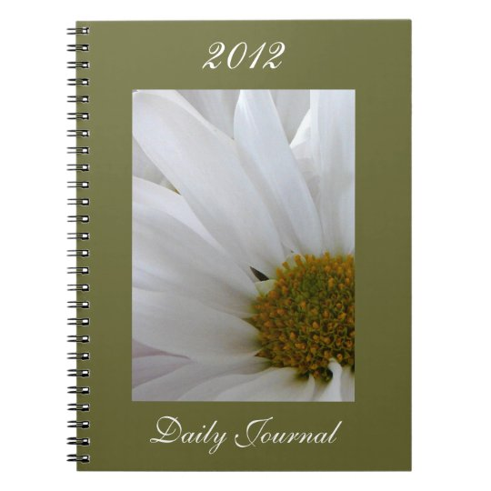 White Daisy-Daily Journal-Customise Year Spiral Notebook