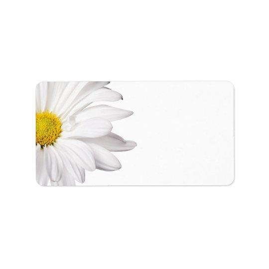 White Daisy Flower Background Customised Daisies Label