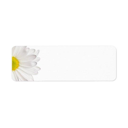 White Daisy Flower Background Customised Daisies Return Address Label