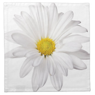 White Daisy Flower Background Customized Daisies Printed Napkins
