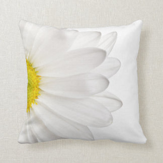 White Daisy Flower Background Customized Daisies Throw Pillow