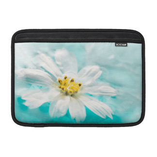 White Daisy Flower Blue Water Pond Tropical MacBook Air Sleeves