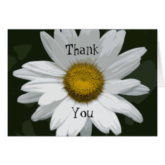 White Daisy Flower Bridesmaid Thank You Card