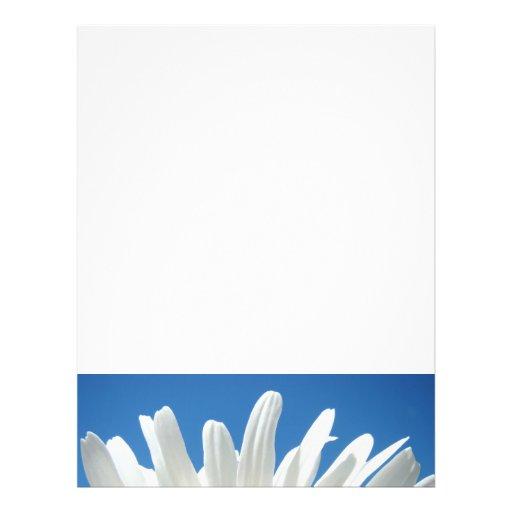 White Daisy Flower Flyers paper Blue Sky