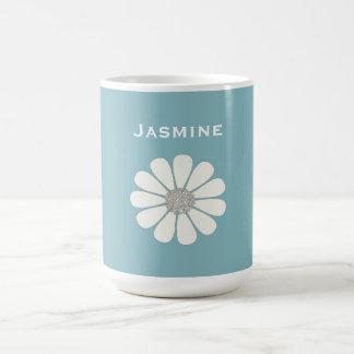 White daisy flower   personalize magic mug