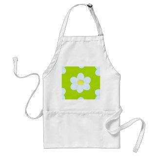 White daisy flower standard apron
