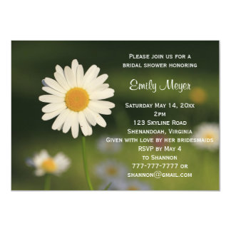 White Daisy Flower Wedding Bridal Shower Card