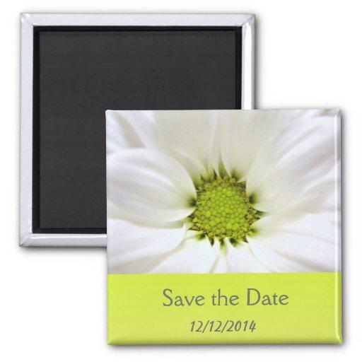 white daisy flower weddings fridge magnets