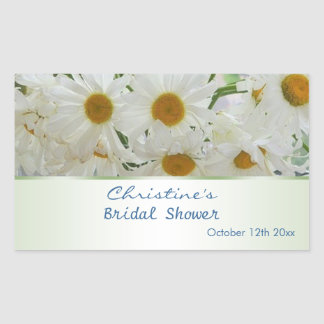 White daisy flowers Bridal Shower Sticker