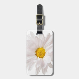 White Daisy Flowers Daisies Flower Floral Template Luggage Tag