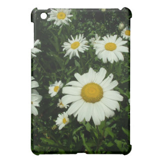 white daisy flowers cover for the iPad mini