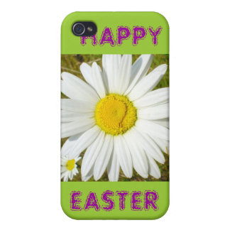 White Daisy Happy Easter Products Cover For iPhone 4