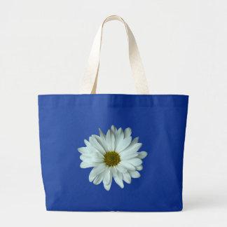 White Daisy Jumbo Tote Bag