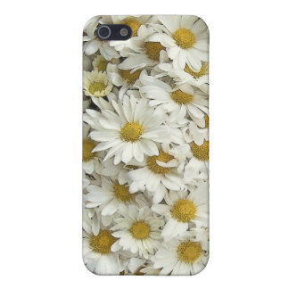 White Daisy Mum Floral Savvy Phone Case iPhone 5/5S Cases