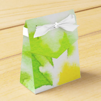 White Daisy on Green Background Favor Boxes Party Favour Boxes