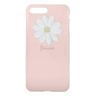 White Daisy Pale Pink iPhone 8 Plus/7 Plus Case