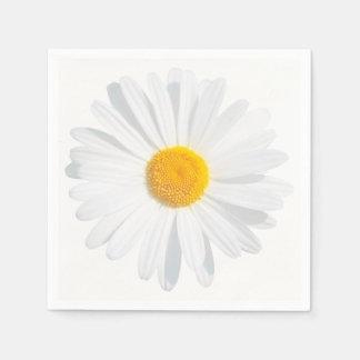 white daisy paper napkins