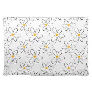 White Daisy Pattern Placemat