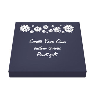 White Daisy Personalised Message Custom Canvas