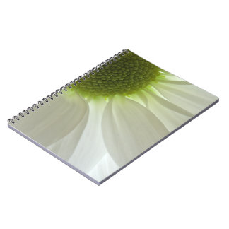 White Daisy Petals Spiral Notebook