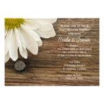 White Daisy Post Wedding Brunch Invitations