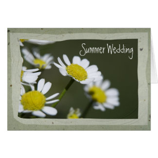 White Daisy Summer Wedding Save the Date Card
