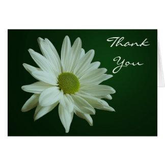 White Daisy Thank You Card
