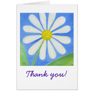 White Daisy Thank You Notecard
