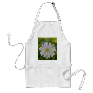 White Daisy with a hint of Purple Apron