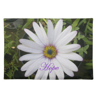 White Daisy with HOPE Placemat