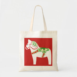 White Dala Horse Tote Bag
