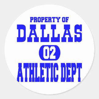 White Dallas Athletic Dept Sticker