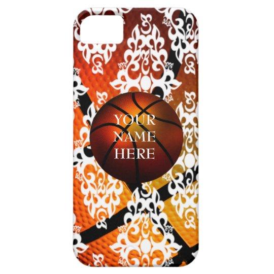 White Damask Basketball Iphone 5 Case