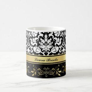 White Damask Coffee Mug