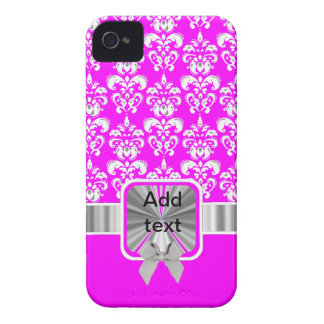 white damask on any color Case-Mate iPhone 4 case