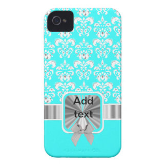 white damask on any color iPhone 4 Case-Mate case