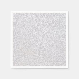 White Damask Disposable Napkin