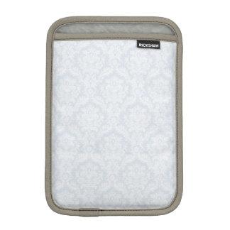White damasks pattern with crease iPad mini sleeves