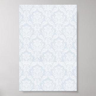 White damasks pattern with crease print