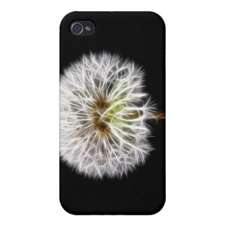 White Dandelion Flower Plant Cover For iPhone 4
