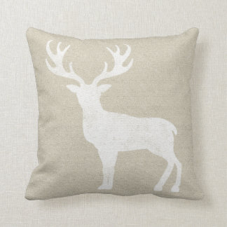 White Deer Pillow