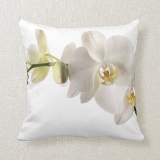 White Dendrobium Orchid Flower Spray Floral Cushions