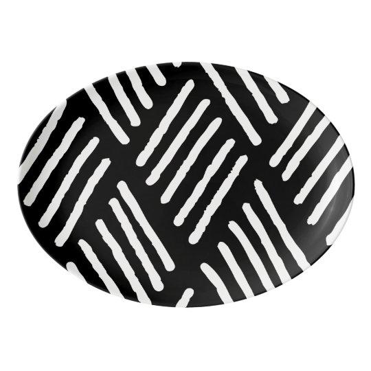 White Diagonal Lines | Any Colour Background Porcelain