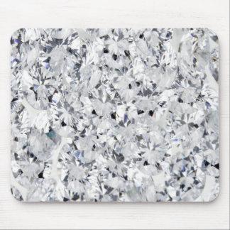 WHITE DIAMOND MOUSE PAD