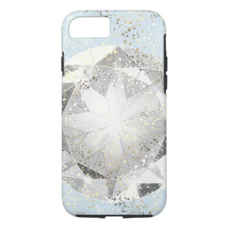 White Diamond on Light Pastel Blue Sparkle iPhone 8/7 Case