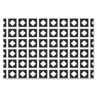 White Diamonds and Black Squares Tissue Paper